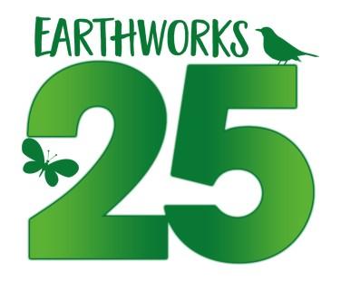 EARTHWORKS 25 logo