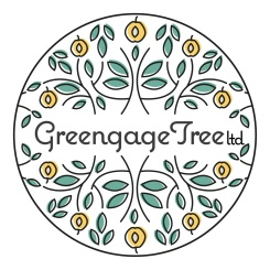 greengage tree vegan fair logo