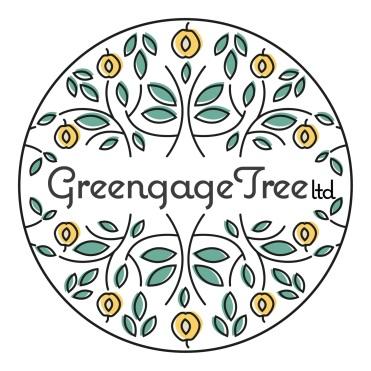 greengage tree vegan fair logo