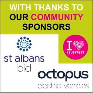 Thanks to St Albans Bid and Octopus EV for sponsoring SustFest20